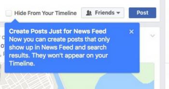 فيس بوك يختبر تسهيل منع عرض المنشورات في الملف الشخصي