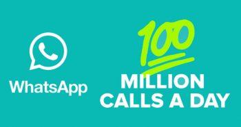 مستخدمي الواتساب يجرون 100 مليون مكالمة يومياً