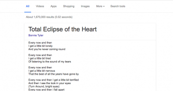 الآن قوقل تعرض كلمات الأغاني في محرك البحث