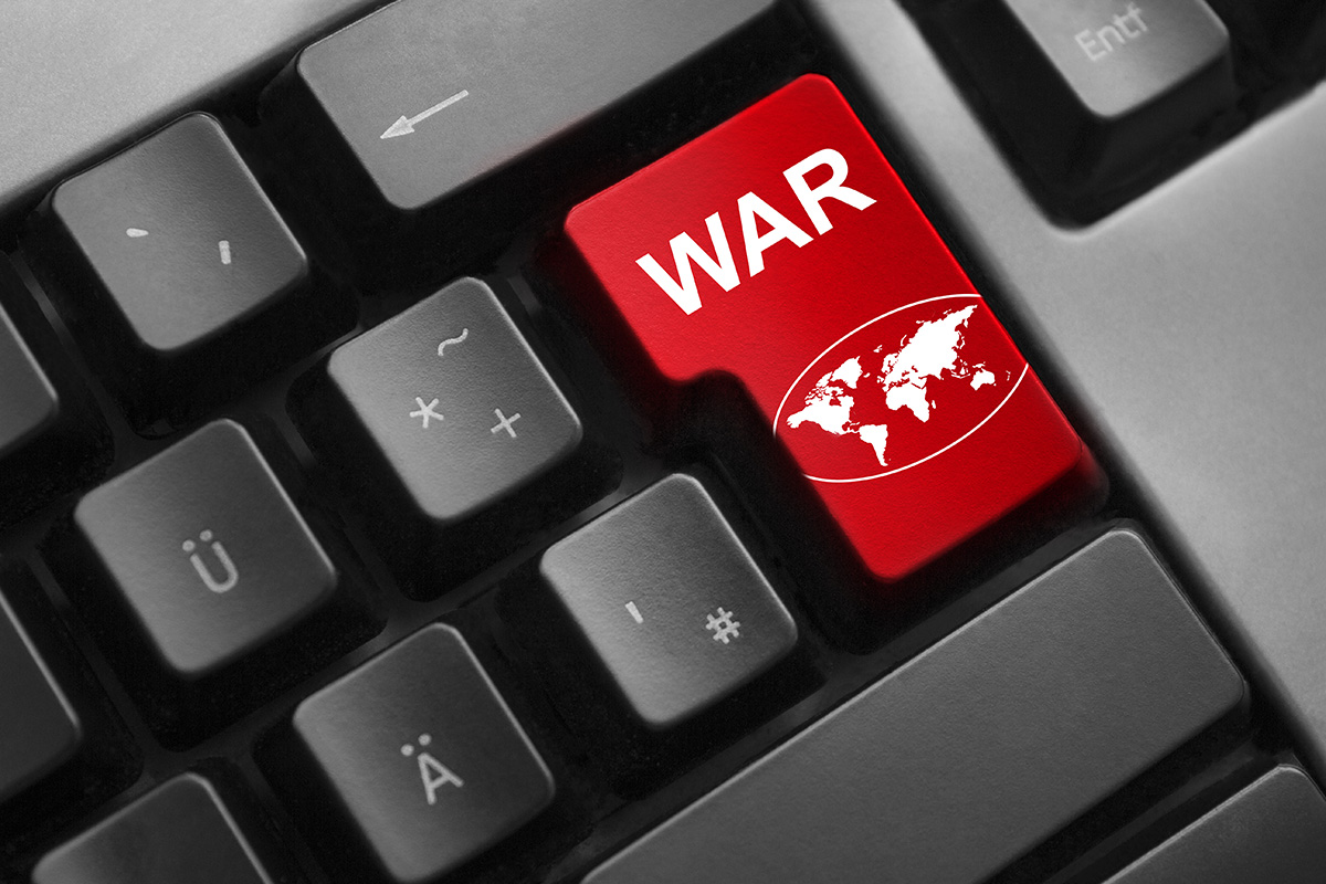 keyboard red enter button war global symbol