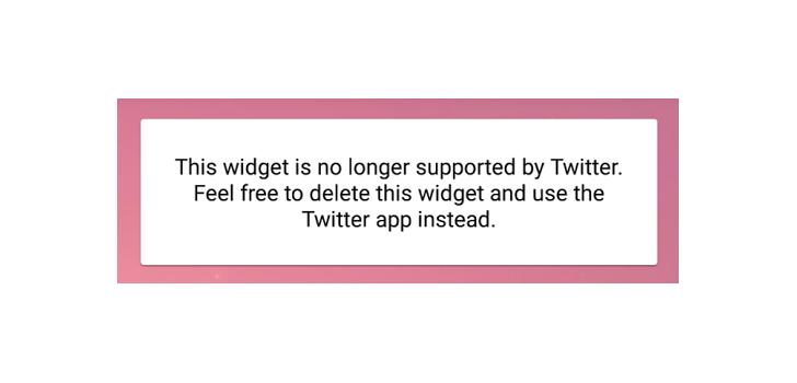 """في أحدث نسخة تجريبية """"ألفا"""" تويتر يزيل الدعم لإضافة ويدجت على الشاشة الرئيسية"""
