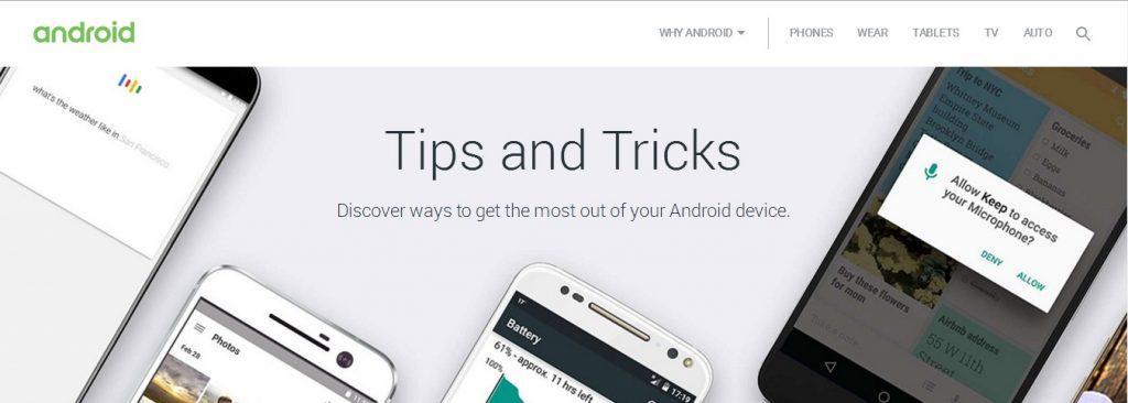 نصائح وحيل Google Android