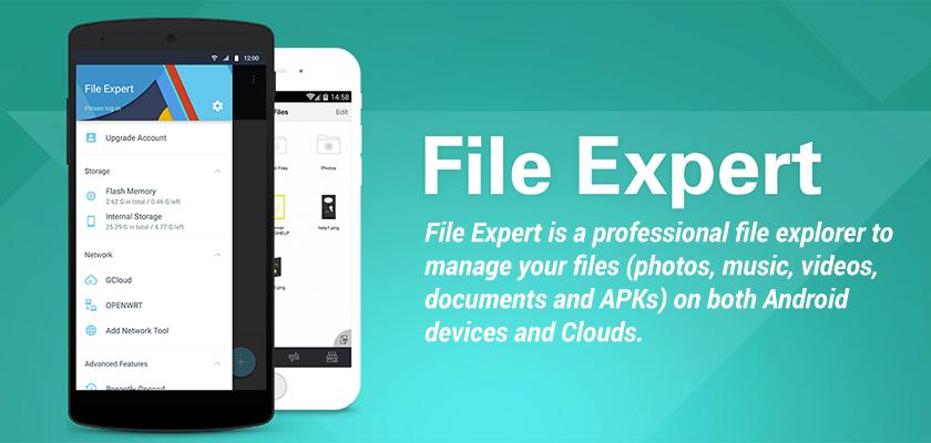 File Expert أقوى تطبيقات إدارة الملفات في أندرويد