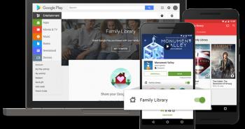 قوقل تطلق ميزة المشاركة العائلية للمشتريات على قوقل بلاي