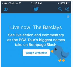 متابعة البث المباشر للأحداث على تويتر ستصبح أسهل