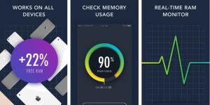 تطبيق GetSpace على iOS لمراقبة الرام ومسح الملفات الغير مرغوب بها