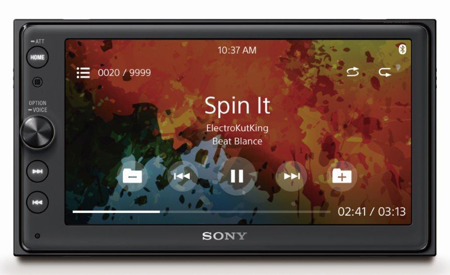 XAV-AX100_Front_Sony_MusicFile_Playback