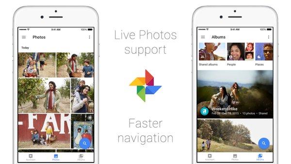 تطبيق Google Photos على iOS يُعزز الدعم لخاصية الصور الحيّة