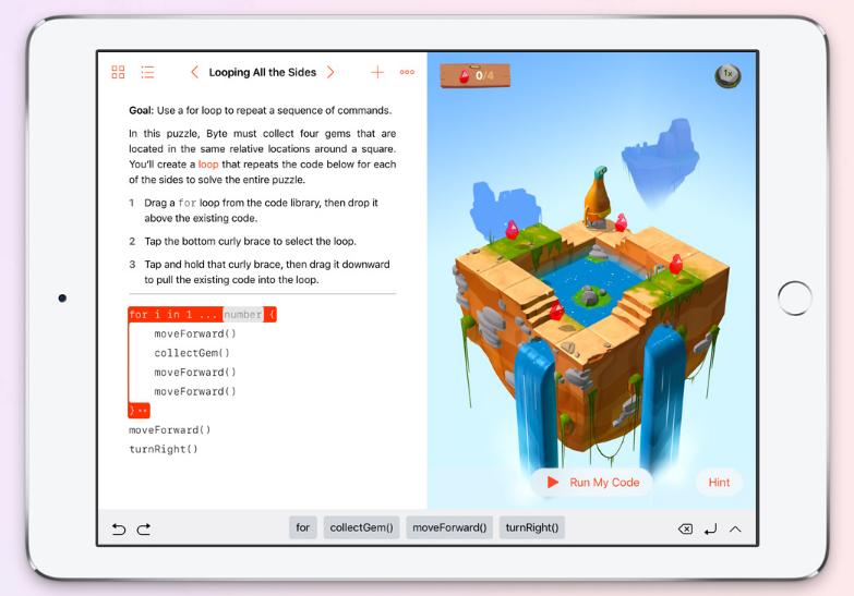 أبل تُطلق تطبيقها Swift Playgrounds لتعلّم لغة برمجة سويفت على آيباد  أبل تُطلق تطبيقها Swift Playgrounds لتعلّم لغة برمجة سويفت على آيباد