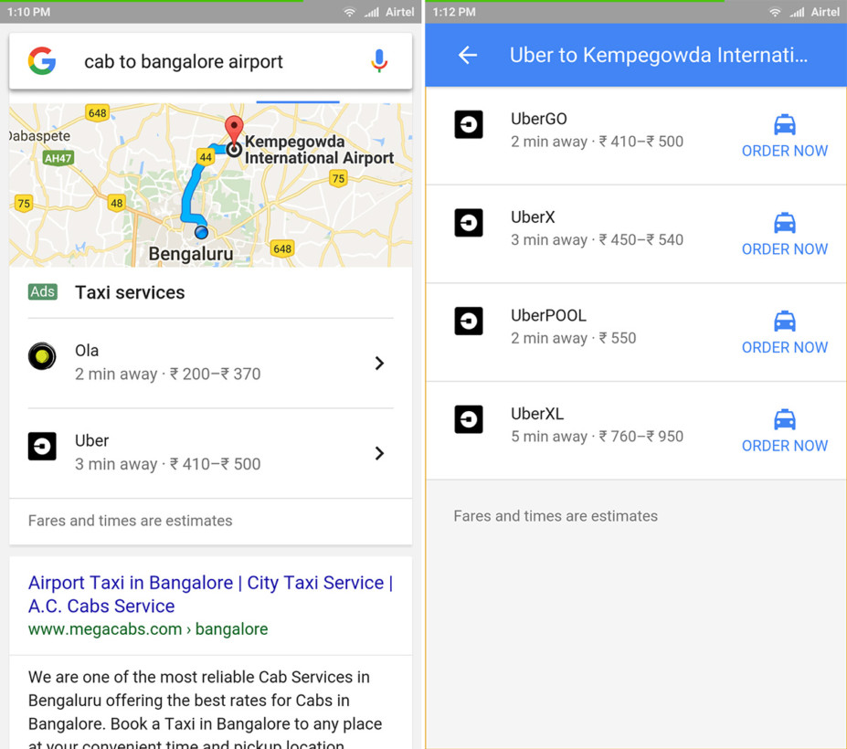 google-cab-search-results-screenshots
