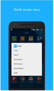 تطبيق Peek لإمكانية الوصول السريع للتطبيقات والأدوات في أندرويد