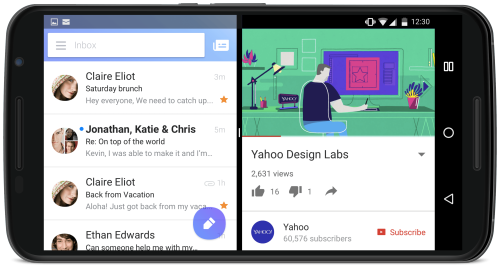 تطبيق ياهو ميل Yahoo Mail متوافق الآن اندرويد نوغا