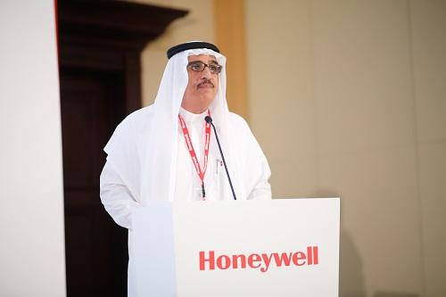 محمد الموسى، مدير 'هانيويل' بالمملكة العربية السعودية خلال حفل تصنيف المباني الذكية من هانيويل
