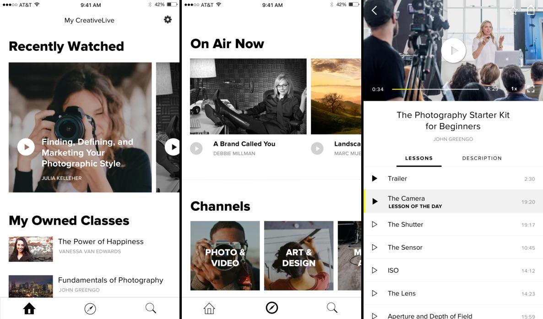 CreativeLive يُطلق تطبيقه الخاص على نظام iOS