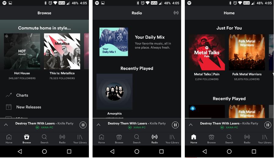 أحدث نسخة بيتا من Spotify على أندرويد تُعيد شريط التنقل السفلي - عالم التقنية
