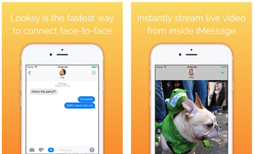 تطبيق Looksy لدردشة الفيديو عبر iMessage