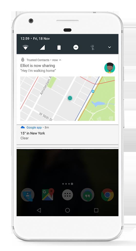 تطبيق Trusted Contacts من قوقل وسيلة مباشرة لمشاركة الموقع