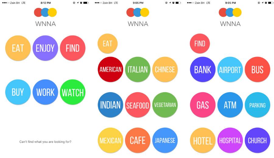 تطبيق WNNA الجديد لتقديم الإقتراحات حول الأماكن القريبة منك