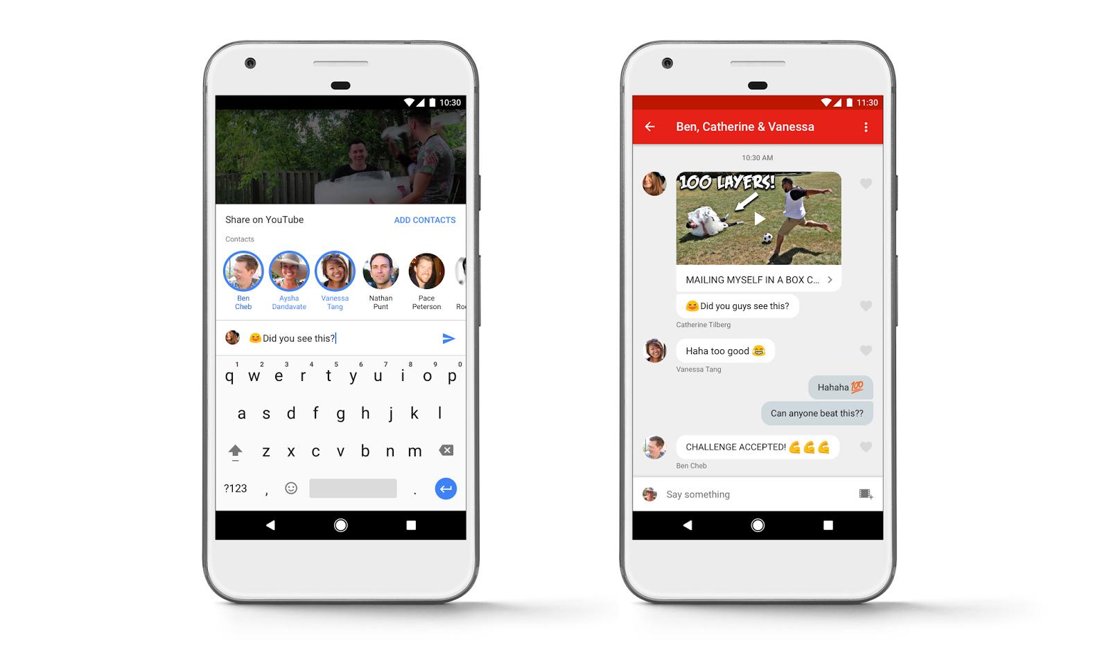 يوتيوب تعلن عن ميزة جديدة لمشاركة الفيديو و الدردشة داخل التطبيق - عالم التقنية