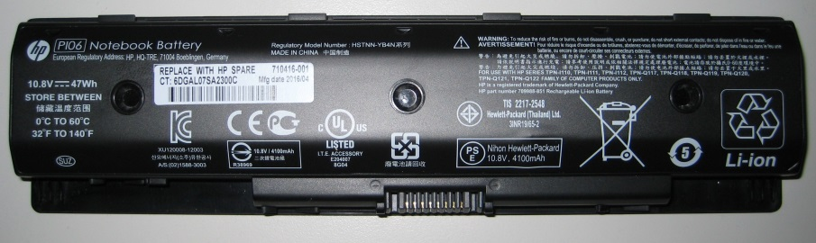 HP Laptop Battery Expansion
