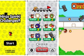 مطور لعبة فلابي بيرد يطرح لعبته الجديدة Ninja Spinki Challenges