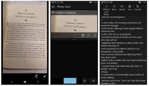 تطبيق Photo Scan لسحب النص من صورة على ويندوز 10