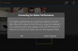 تطبيق PowerDirector ولأول مرة من بين التطبيقات يدعم تحرير فيديو بجودة 4k