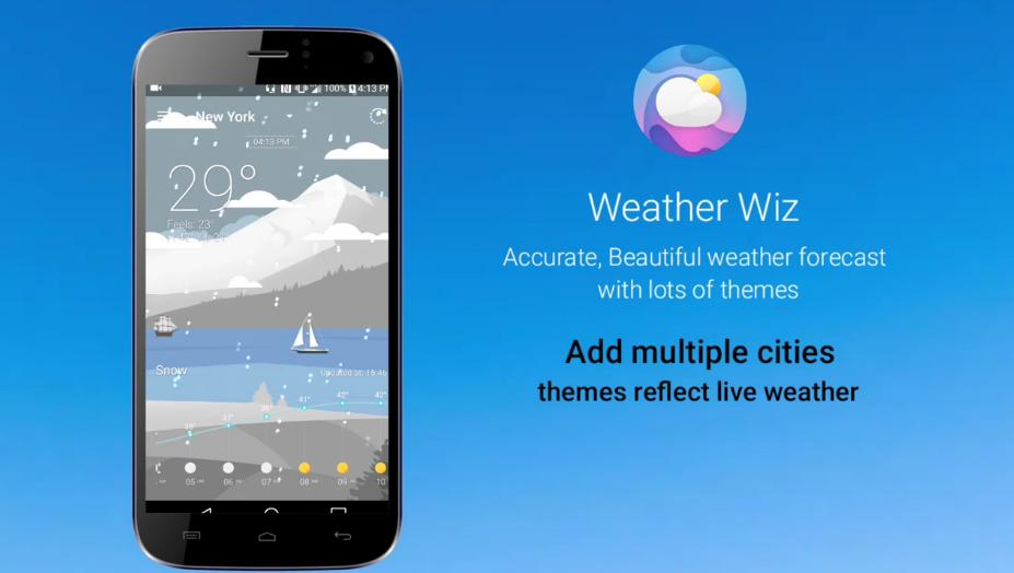 تطبيق الطقس الجديد Weather Wiz على أندرويد  مميز  - عالم التقنية