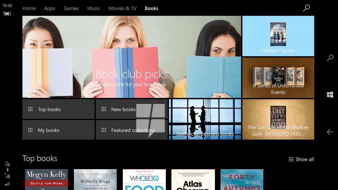 ويندوز 10 سيحصل على متجر الكتب الإلكترونية - عالم التقنية