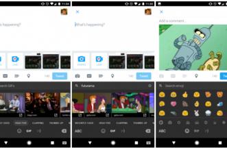 تويتر في أندرويد يدعم لوحة مفاتيح الصور المتحركة