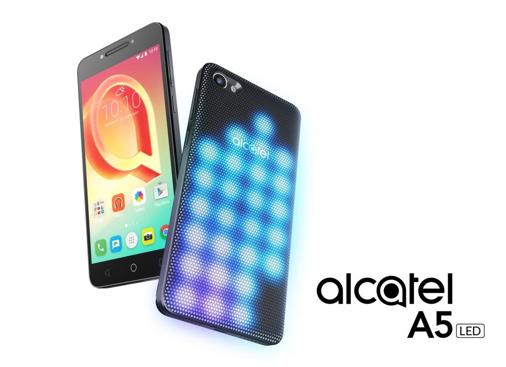 """MWC 2017: ألكاتيل تطلق هواتفها الذكية الجديدة """"A5 LED"""" و""""A3″ و""""U5″"""