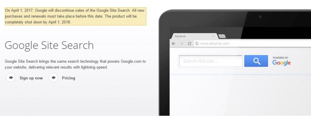 قوقل توقف بيع خدمة محرك البحث للمواقع