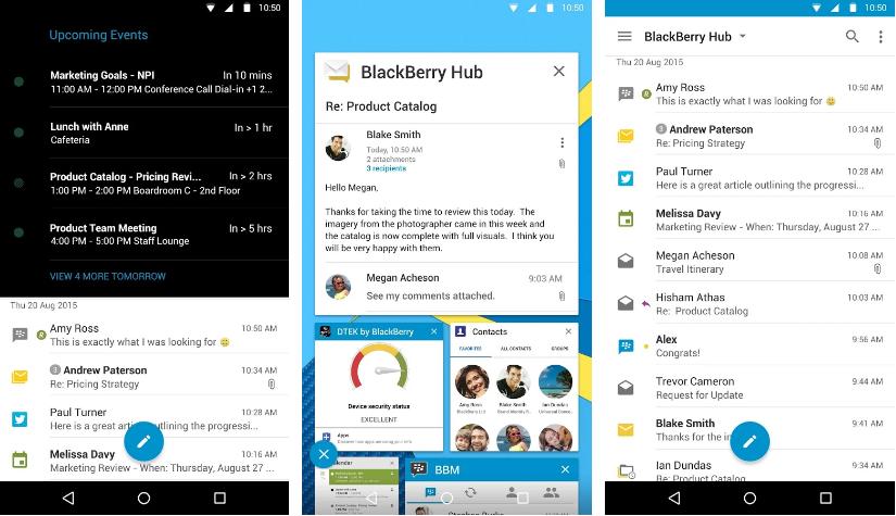 بلاك بيري تحدث تطبيقها Hub بدعم اشعارات WeChat و Line وأكثر