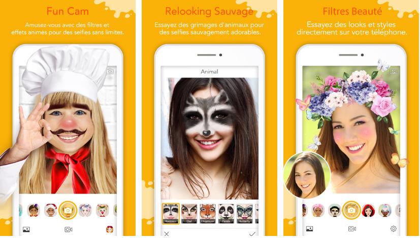 YouCam Fun على iOS لمعالجة الصور بفلاتر وأقنعة بالوقت الحقيقي