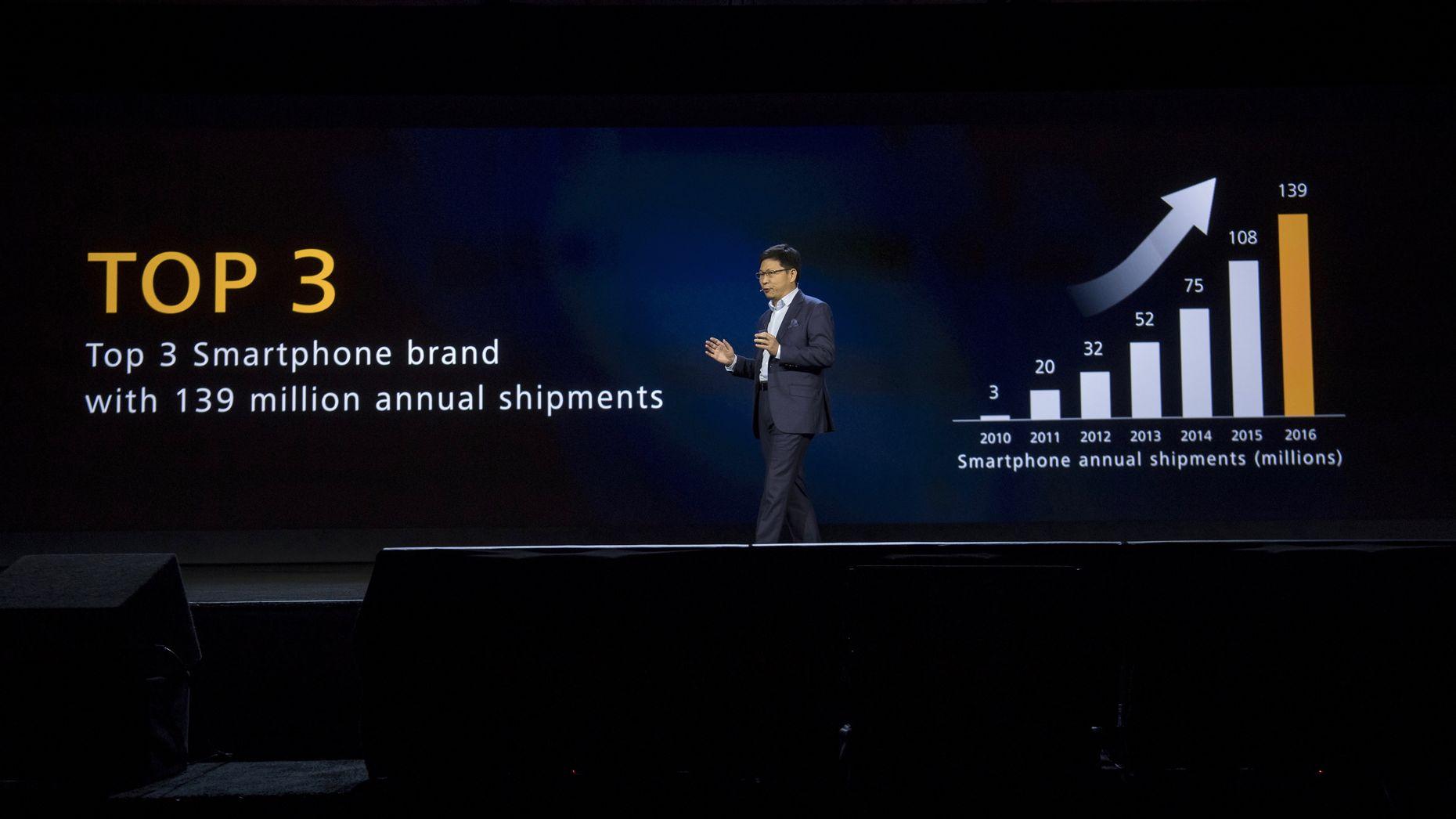 مبيعات هواوي من الهواتف الذكية