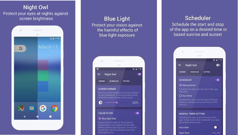تطبيق Night Owl لإراحة عينيك أثناء تصفّح هاتفك ليلًا