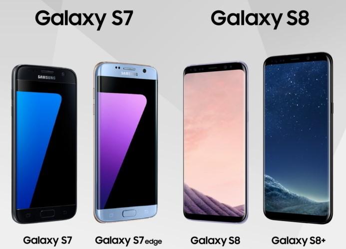 """إنفوجرافيك: مقارنة بين كافة مواصفات """"جالاكسي إس 8″ و""""جالاكسي إس 7"""""""