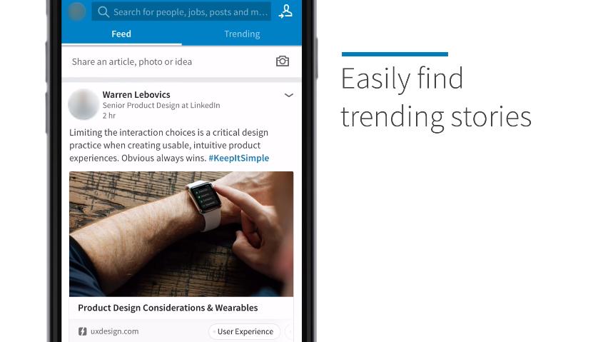 لينكد إن تطلق ميزة Trending Storylines لنشر الأخبار وفقًا لاهتمامات المستخدم
