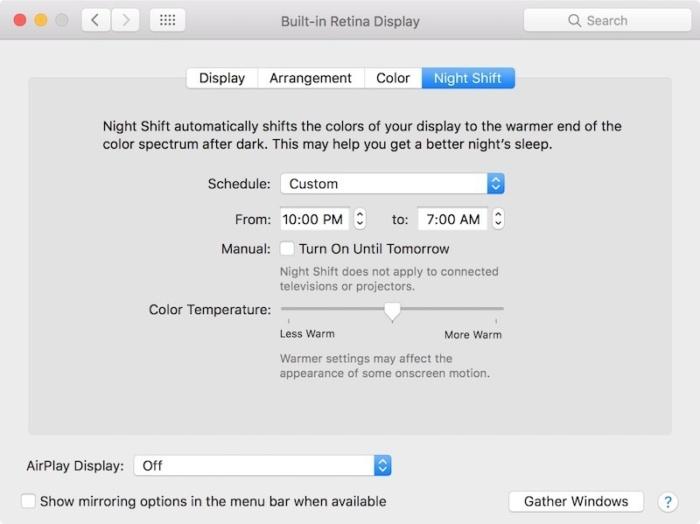 آبل تقدم الوضع الليلي في نظام macOS
