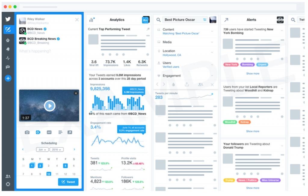 """تويتر تدرس إطلاق إصدارًا مدفوعًا من """"TweetDeck"""""""