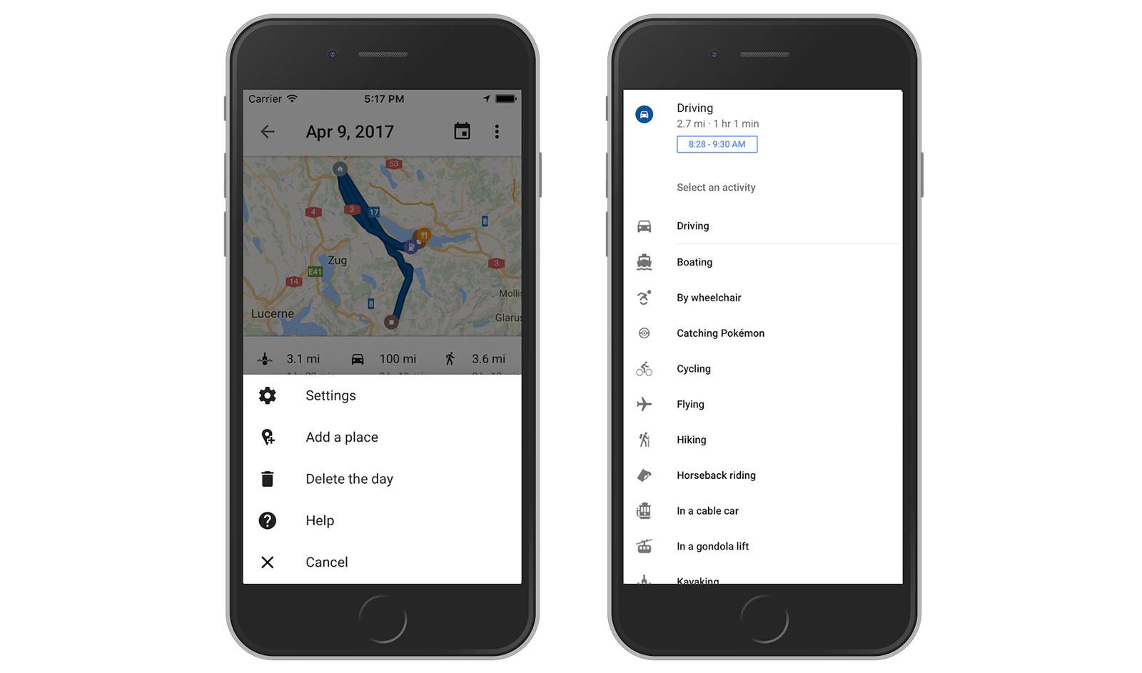 قوقل تُوفّر ميزة المخطط الزمني في خرائطها على iOS