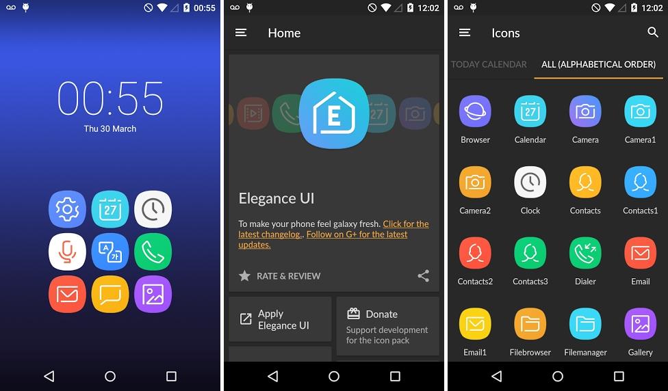 تطبيق Elegance UI يقدّم لك حزمة أيقونات جالكسي اس 8
