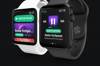 Snowy Apple Watch