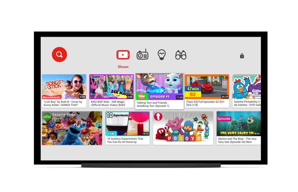 تطبيق يوتيوب الأطفال يتوفر على التلفازات الذكية