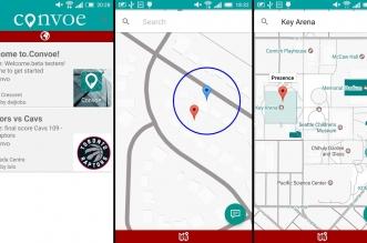تطبيق Convoe للتحدث مع أحدهم بناءًا على موقعك الحالي