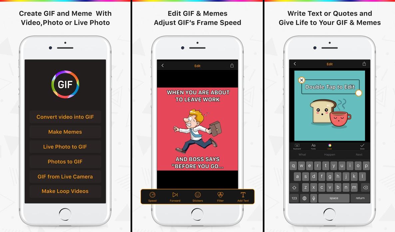 تطبيق صناعة الصور المتحركة GIF Maker على iOS