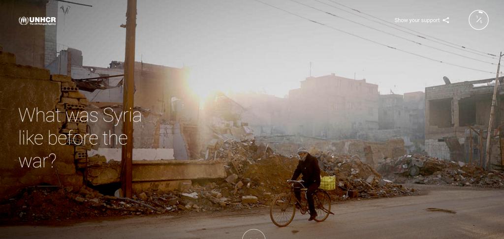غوغل تطلق موقع خاص بالقضية السورية وباللاجئين بالتعاون مع هيئة الأمم المُتحدة