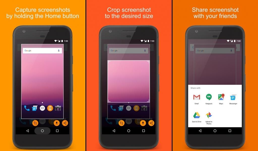 تطبيق Screenshot Assistant لأخذ سكرين شوت وقصه قبل حفظه