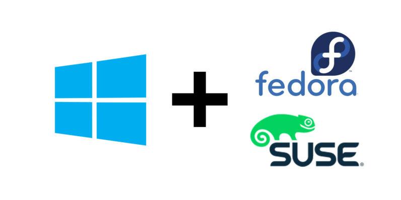 مايكروسوفت توزيعات 2018,2017 Windows-Fedora-Suse-