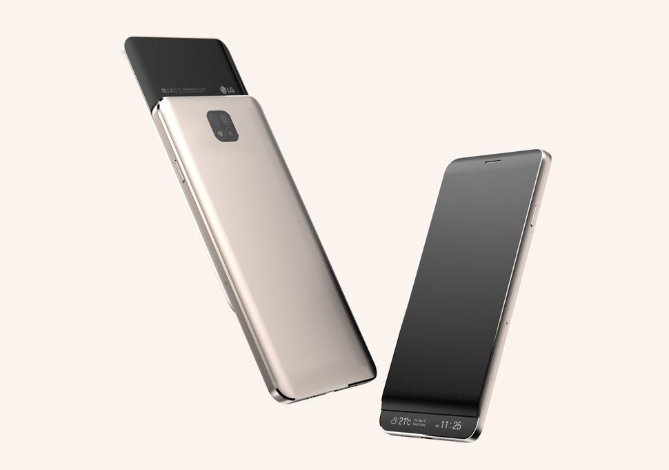إل جي تعمل على هاتف بشاشة ثانوية قابلة للسحب